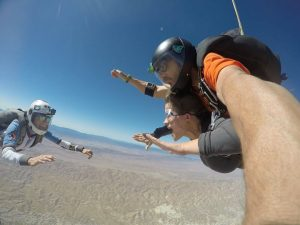 Skydiving selife